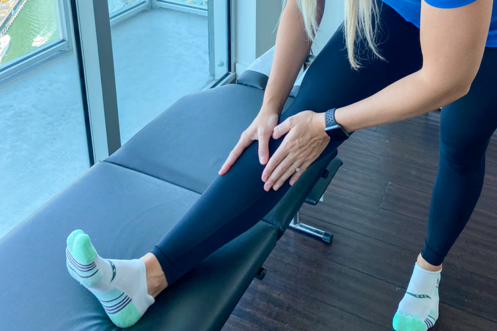 on the go wellness chiropractor supported hamstring stretch for sciatica